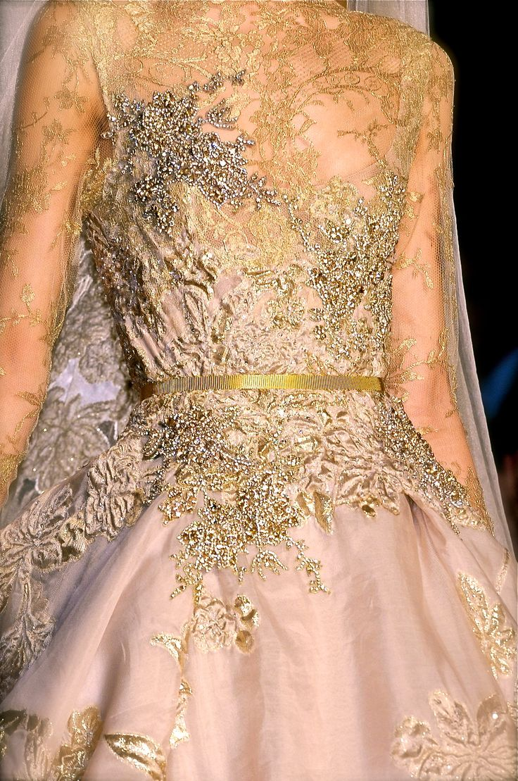 Stunning. Inspiration~overdress of beaded lace. Gold and silver