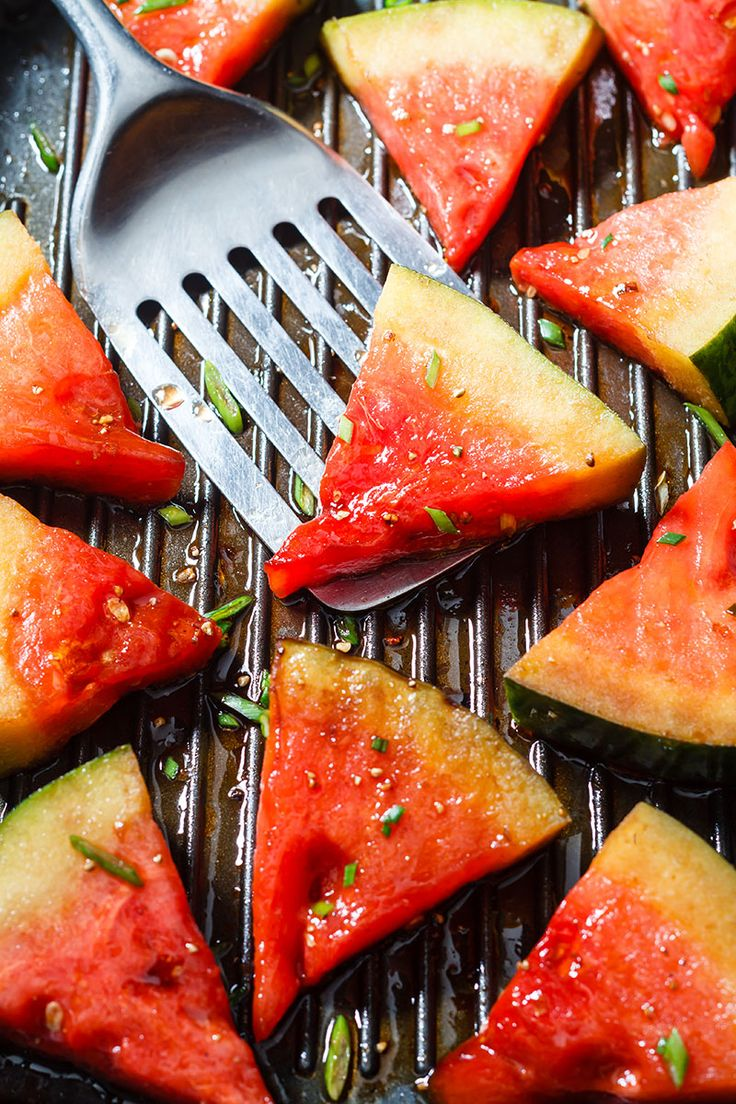 Grilled Watermelon with Honey Balsamic Glaze