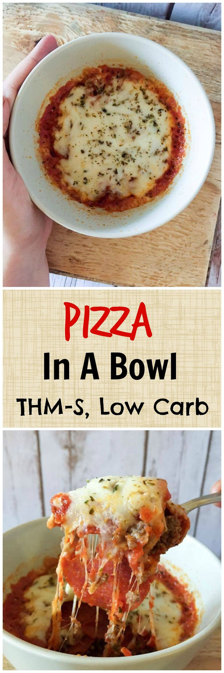 Pizza in a Bowl {Low Carb, THM-S} - My Montana Kitchen