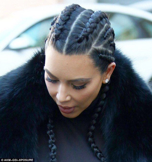how to get kim kardashian 39 s boxer braids femail perfects the style frisur und haar. Black Bedroom Furniture Sets. Home Design Ideas