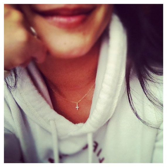 Dainty Sterling Silver  Cross Necklace  -  Everyday Jewelry on Etsy, $22.90
