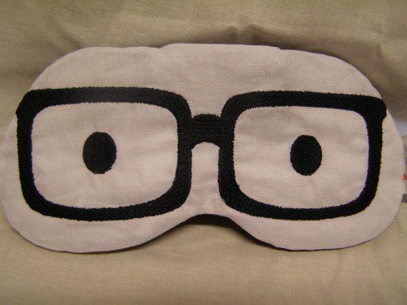 Embroidered Eye Mask Sleeping Cute Sleep by MadeByMeEmbroidery