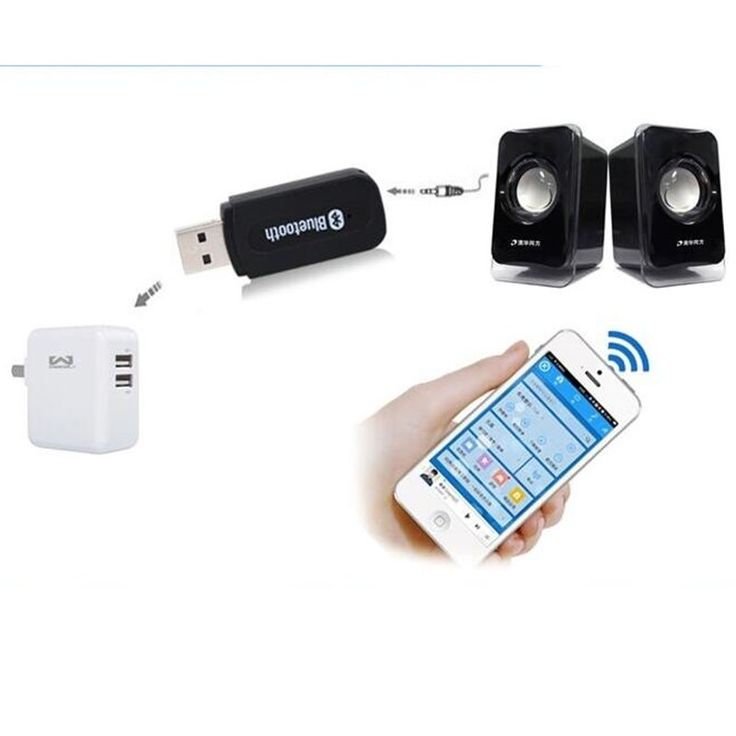 Cheap Sale Only Today 3.5mm USB Bluetooth 4.0 Stereo Audio Music Receiver Car Kit Wireless Dongle Adapter for Aux Car PC Phone