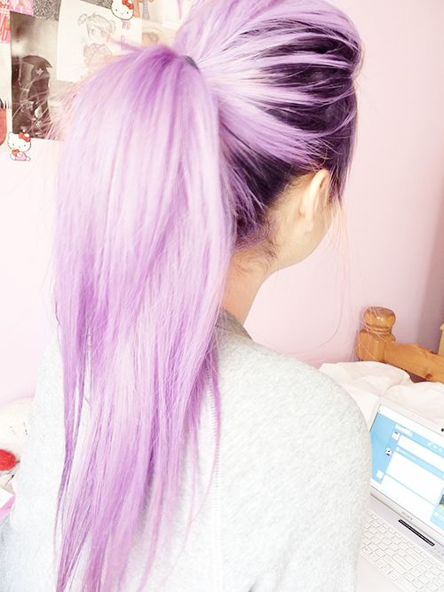 purple hair dont care. I really like this, I want to do my full head.. Would this look good @CatbugLove  @marissasmith45