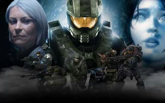 Oh this is good...from left to right, top to bottom, we've got: Dr. Halsey, Master Chief, Cortana. Carter, Jun, Six, Kat, Emile, Jorge.