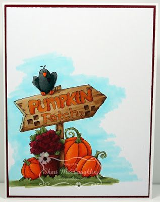 ONECRAZYSTAMPER.COM: This Way to ..... by Shari using High Hopes Stamps Pumpkin Patch (S152)
