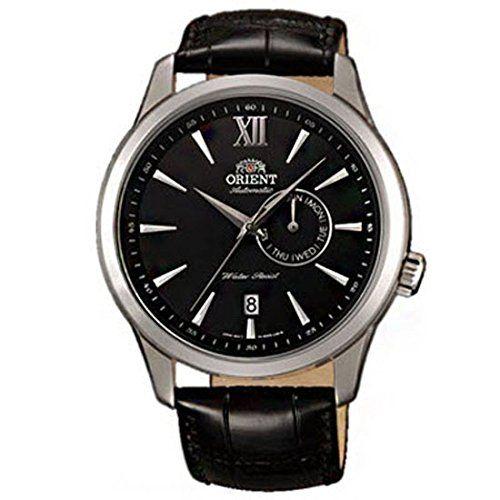 Orient Herren 43mm Automatikwerk Schwarz Leder Armband Datum Uhr FES00005B0 - http://uhr.haus/orient/orient-herren-43mm-automatikwerk-schwarz-leder