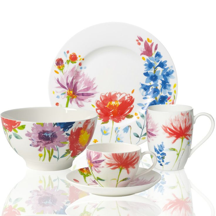 Villeroy Boch Anmut Flowers Dinnerware #floral tableware