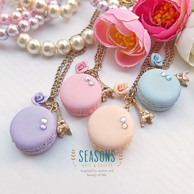 Tomorrow will be a long weekend. Have a nice holiday everyone :) You can always customize the color.  #handmadeaccessories #handmadeclay #madewithlove #handmadejewelry #handmadenecklace #clayart #claycraft #claycreations #macaronnecklace #rosecharm #eiffelcharm #airdryaclay #fakesweets #fakefood #sweetjewelry #kawaiiaccessories #kawaiijewelry #macaronclay #jualclay #jualaccessories #kalungclay #clayjakarta #jualkalung #kalunghandmade