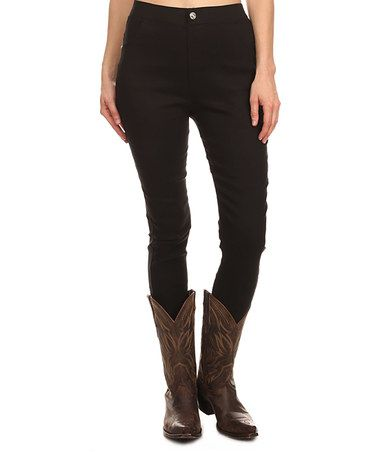 Love this Black Skinny Pants - Plus Too on #zulily! #zulilyfinds