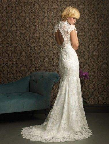 LOVE this back. From thebrokeassbride.com by Allure Bridals