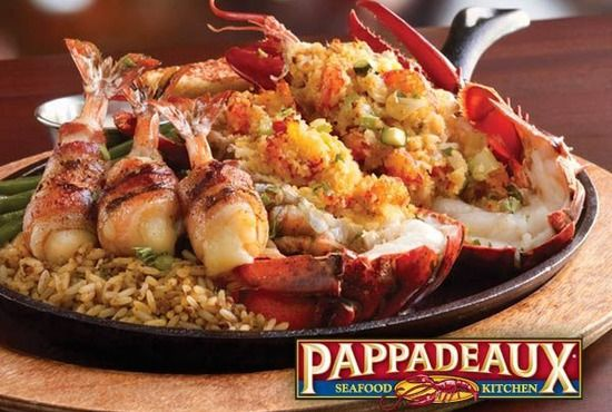 Pappadeaux Seafood Kitchen - Houston, Texas (original) but now all over Texas.  Stuffed Lobster and Shrimp.  Good seafood and desserts at a GOOD price. must try if in Texas or whereever they are located.