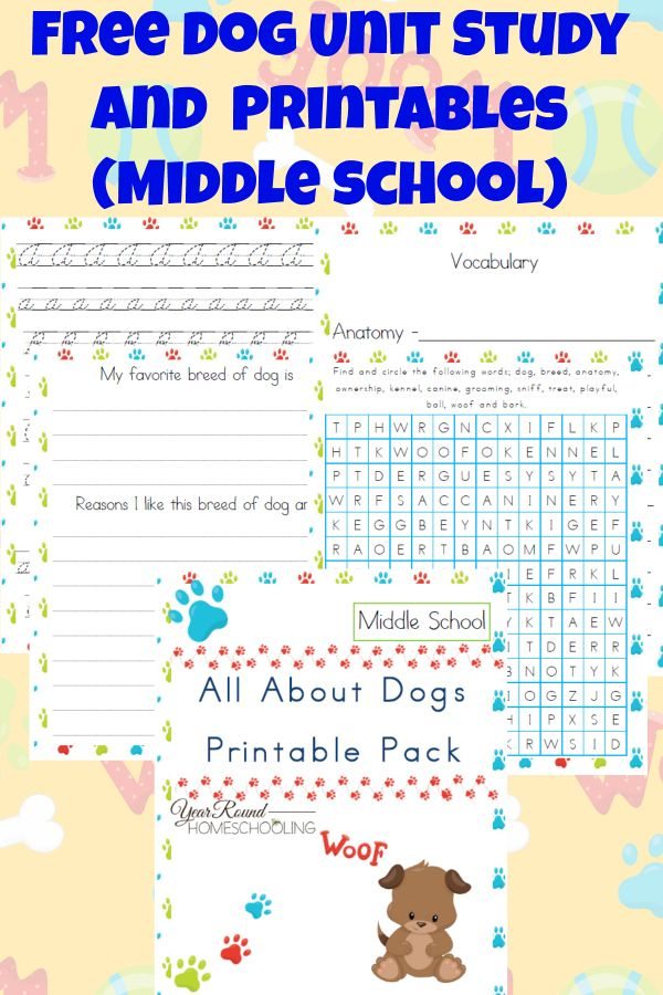 Free Dog Unit Study and Printables (Middle School – Best of Year Round Homeschooling