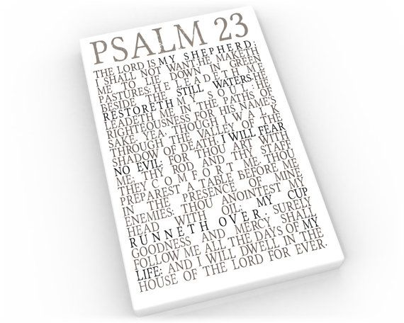 Psalm 23 Subway sign on Canvas Bible verse print The