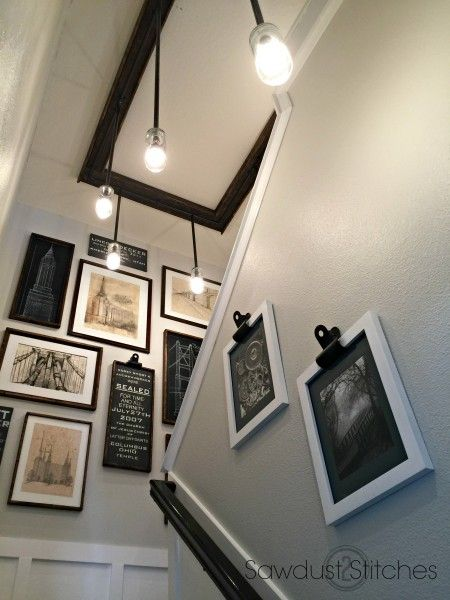 stair well art sawdust2stitches.com