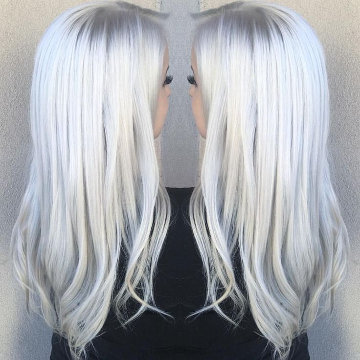 """3,195 Likes, 157 Comments - MARIANA CRUZ•Hairstylist (@marianacruzhair) on Instagram: """"❄️ ICY BLONDE❄️ I'm completely obsessed with this gorgeous Elsa blonde! It's so white it's glowing…"""""""