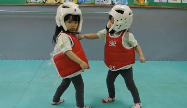 Cutest Taekwondo Fight EVAR
