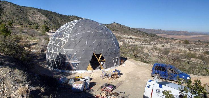 Vivienda cúpula geodésica Yecla exterior 04