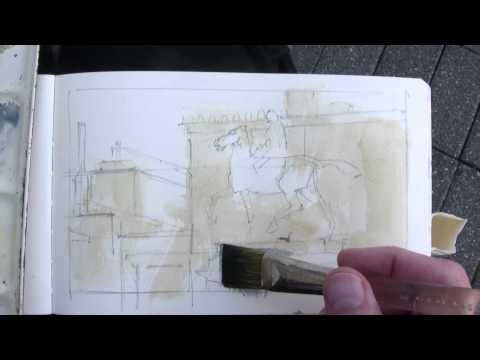 Here's a super quick demo of a gouache painting. James Gurney.