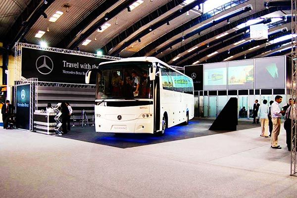 Exhibition Stand Desing for Mercedes Benz at Bus & Vehicles Expo. Contact us http://www.expodisplayservice.ae/contactus.asp