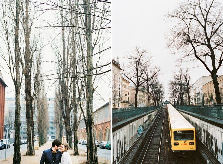 Wintery engagement in Berlin / Nikon F100 -Kodak Portra 400 / Gabor Muray Photography