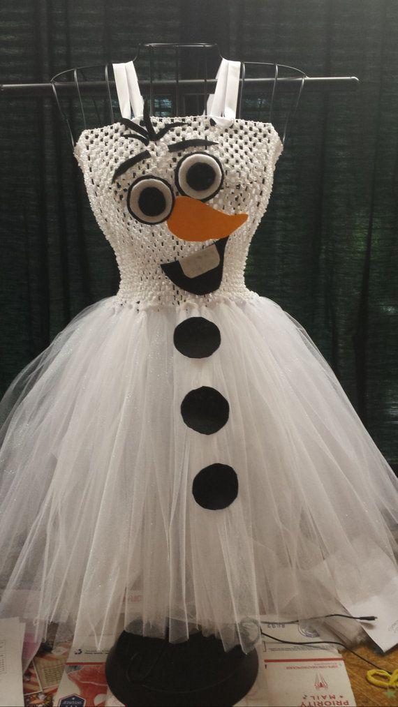 frozen inspired olaf tutu dress 0-12 kids 35.00