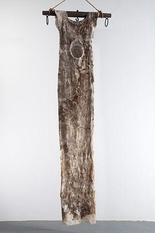Moira Bateman. Nightdress 1; Mnemosyne Series  2011  Linen textile, onion skin…