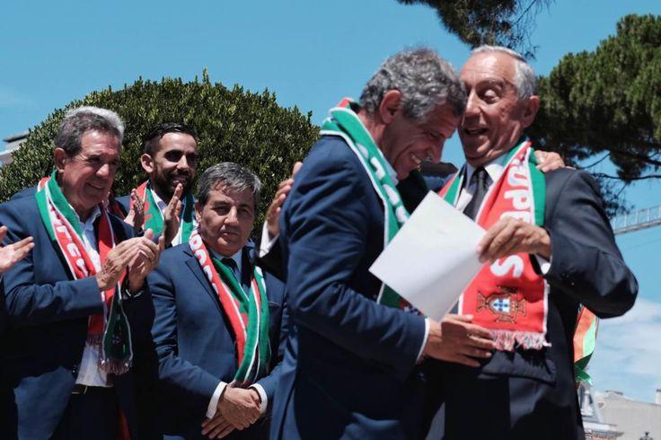"""""""Hoje temos mais razões para acreditar em Portugal"""", disse Marcelo Rebelo de Sousa na recepção dos campeões europeus."""