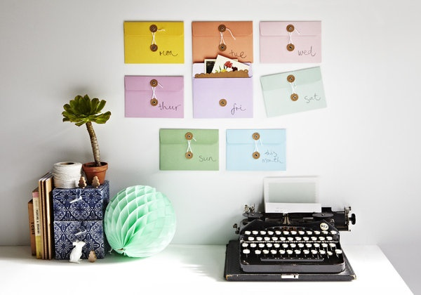 Nice idea, colourful and simple ...Love the photos that exceed the envelop