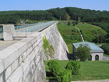 Wachusett Reservoir Dam, once the largest public water supply reservoir in the world!