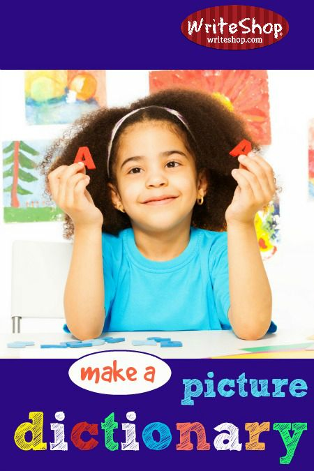 Looking for a clever way to build vocabulary and target common spelling words? Invite your younger children to make a picture dictionary.
