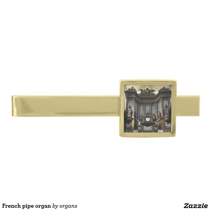 French pipe organ gold finish tie clip