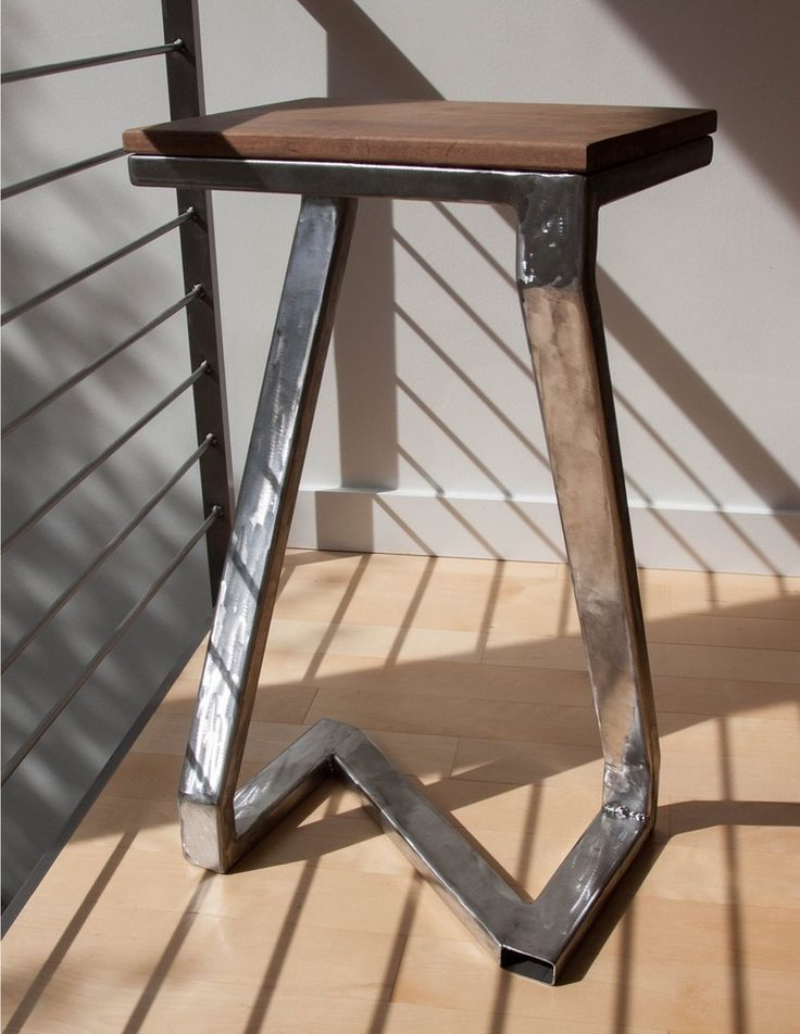 Handmade TIG welded steel frame with floating