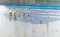 Untitled (Beach Scene) by Hurvin Anderson: Untitled Beach, Beaches, Beach Paintings, Scene Painting, Artistas Visuales, Hurvin Anderson, Oil Painting, Beach Scenes