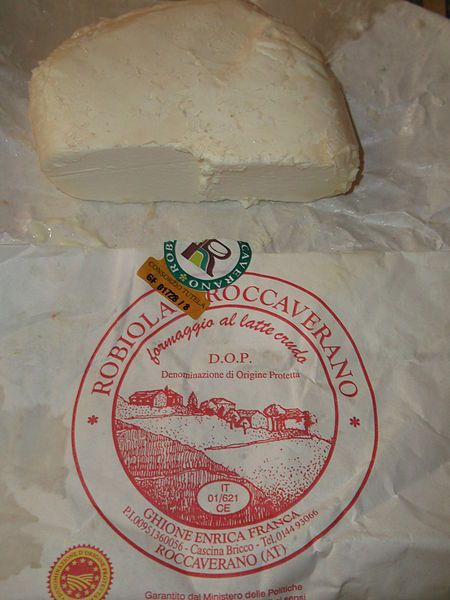 Robiola is an Italian soft-ripened cheese of the Stracchino family.