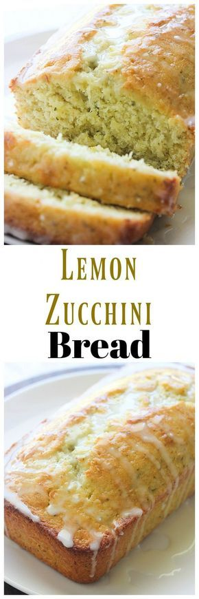 Use up the rest of that zucchini with this Lemon Zucchini Bread. The lemon and zucchini go great together in my quick bread recipe. Lemon Zucchini Bread, Zucchini Bread Recipes, Quick Bread Recipes, Baking Recipes, Cake Recipes, Dessert Recipes, Zucchini Torta Recipe, Baking Ideas, Zucchini Desserts