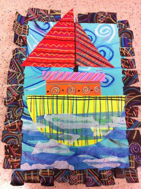Drip, Drip, Splatter Splash- Practicing lines, sailboat