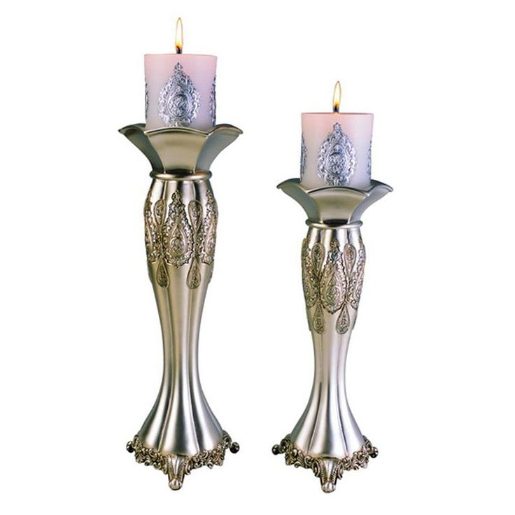 Ore International Traditional Candle Holder - Set of 2 - K-4199C