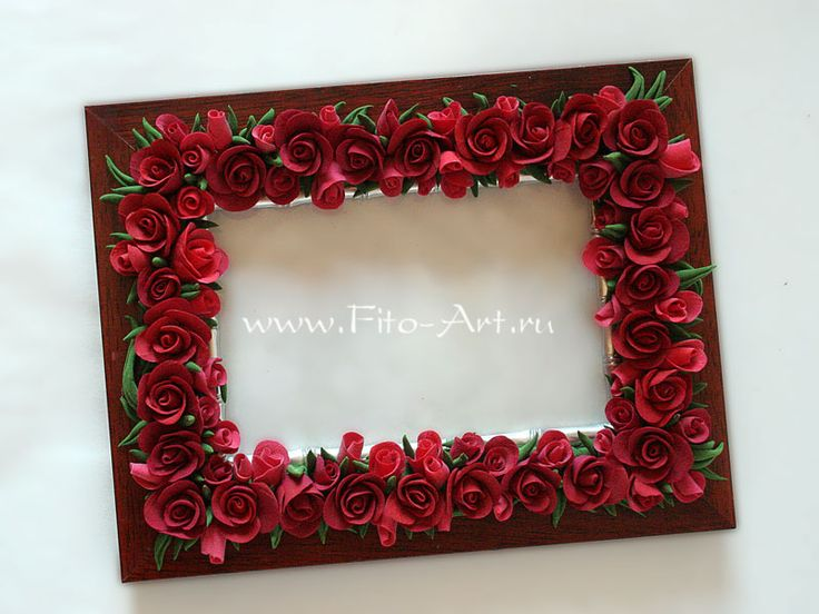 Photo Frame With Roses Fito Art Ru Polymer Clay Art