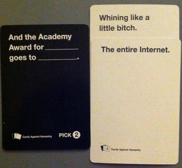Cards Against Humanity nails it.