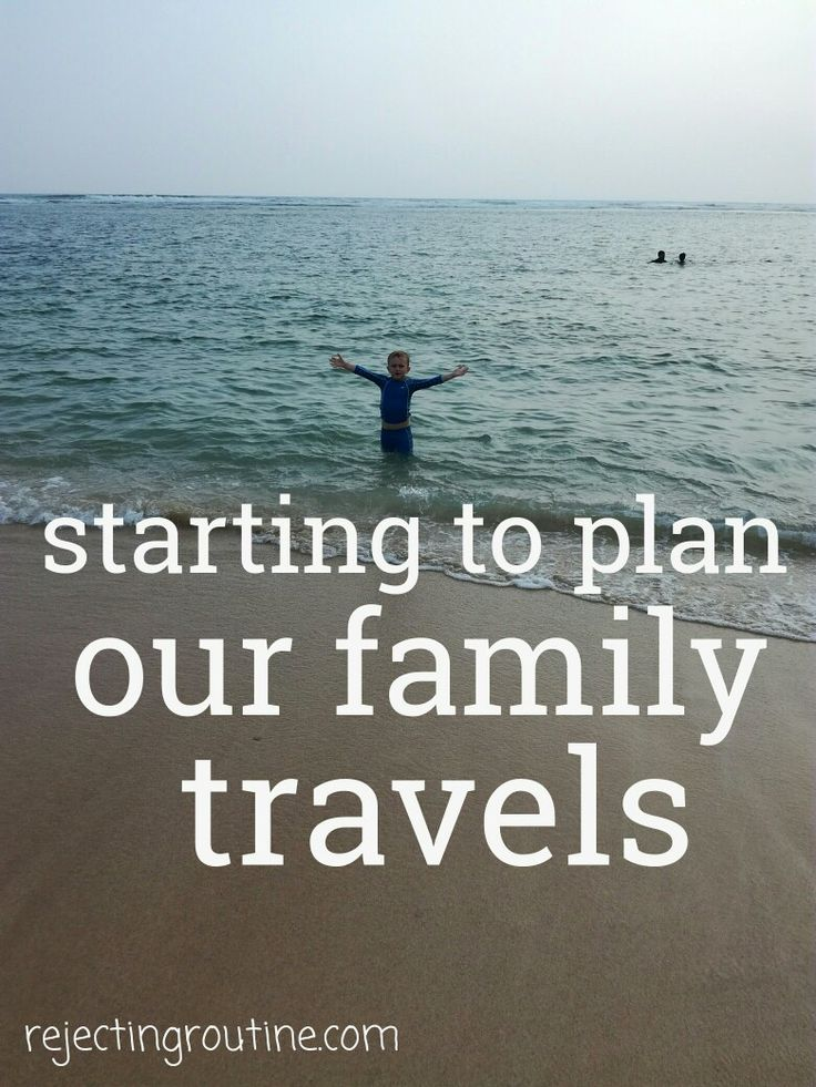 The first steps as our family travel planner. This is just the beginning as we aim to travel full-time as a family.