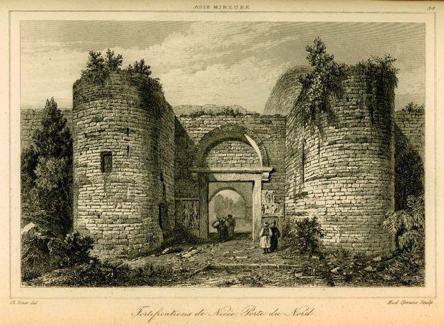 Η βόρεια πύλη των τειχών της Νίκαιας, σήμερα Ιζνίκ. - TEXIER, Charles Félix Marie - ME TO BΛΕΜΜΑ ΤΩΝ ΠΕΡΙΗΓΗΤΩΝ - Τόποι - Μνημεία - Άνθρωποι - Νοτιοανατολική Ευρώπη - Ανατολική Μεσόγειος - Ελλάδα - Μικρά Ασία - Νότιος Ιταλία, 15ος - 20ός αιώνας