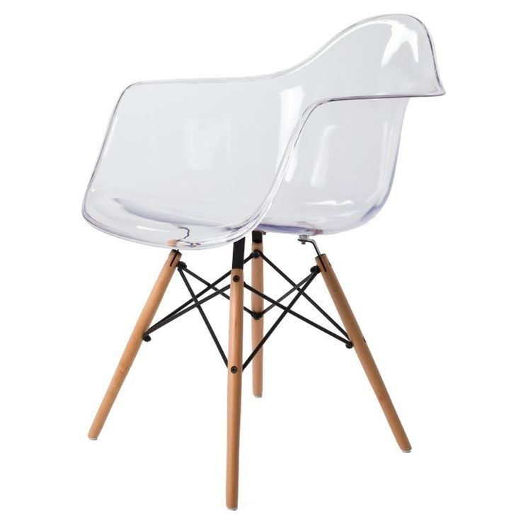 25 best ideas about eames dining chair on pinterest for Chaise transparente et bois