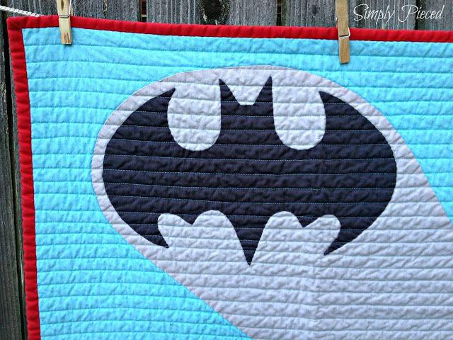 Quilt Story: Modern Batman Quilt from Simply Pieced