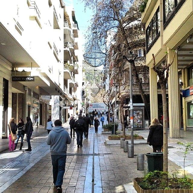 Οδός Βουκουρεστίου (Voukourestiou Str.) στην πόλη Αθήνα, Αττική
