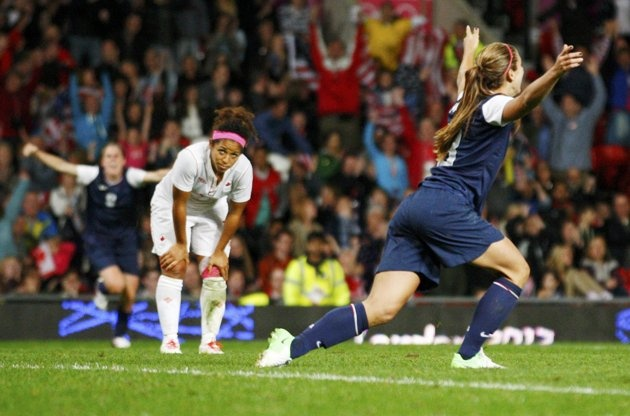 My Favorite Sporting Image would be when Alex Morgan scored the 4th and winning goal over Canada in the US women's semifinals during the 2012 Olympics! #directbuy