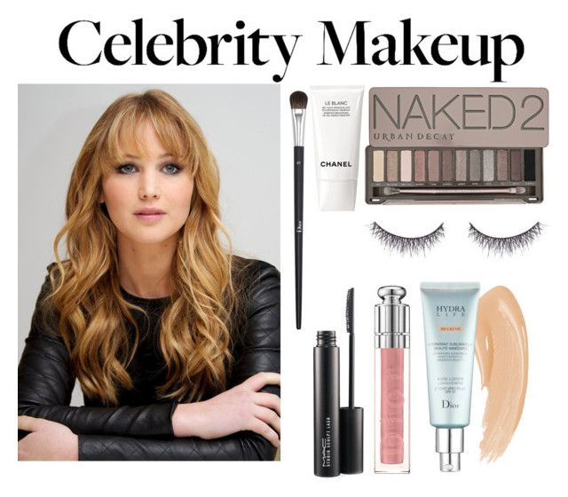 """""""Celebrity Make Up : Jennifer Lawrence"""" by sadiaazam22 ❤ liked on Polyvore featuring beauty, Christian Dior, Urban Decay, shu uemura, MAC Cosmetics and Chanel"""