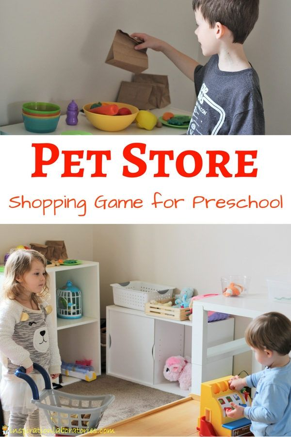 Practice counting and number recognition with a Pet Store Shopping Game for Preschool