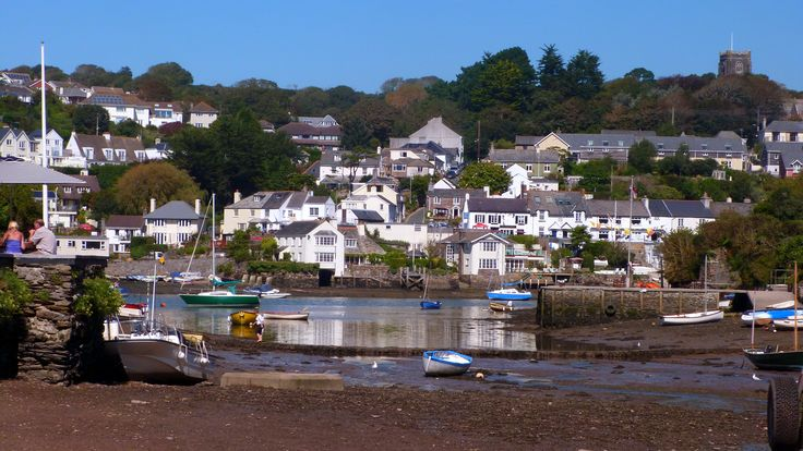 Newton Ferrers from the Ship Inn, Noss Mayo in South Devon