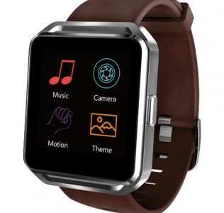 Branded Smart Watch with brown straps and large display
